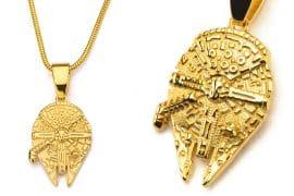 Collana Millennium Falcon dorata
