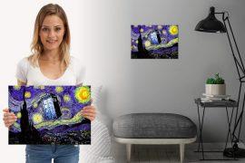 Targa TARDIS - Notte stellata di van Gogh