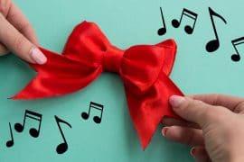 Fiocco da regalo musicale