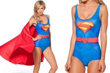 Costume da bagno Superman con mantello
