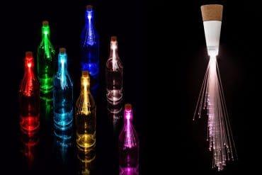 Tappo luminoso con fibra ottica