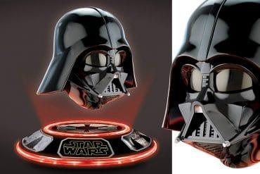 Casco levitante di Darth Vader