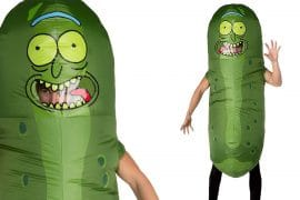 Costume Cetriolo Rick gonfiabile