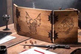Screen per Dungeon Master in legno