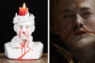 Portacandela Joffrey sanguinante