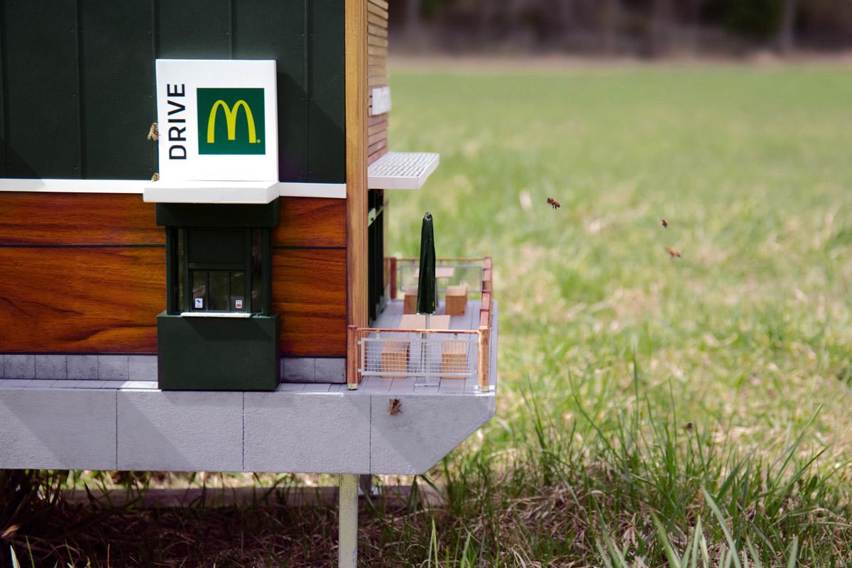 Alveare McDonald's con api