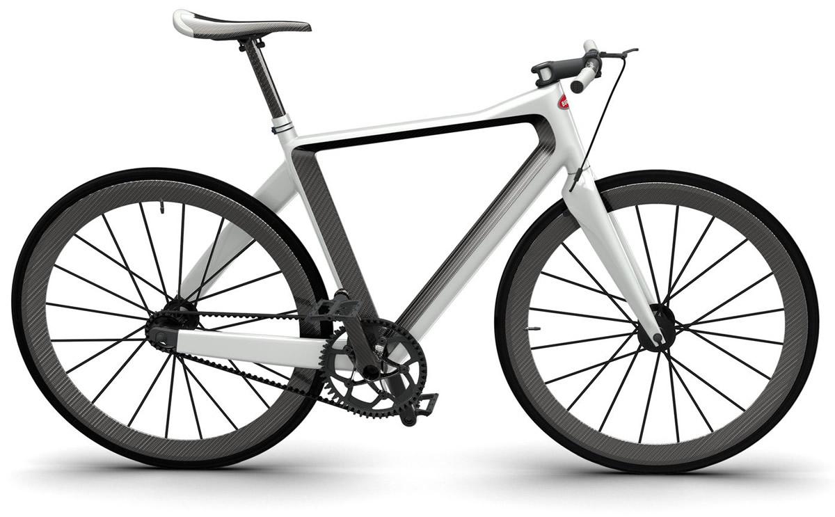 PG Bugatti Bike - bianca e nera