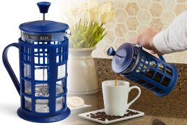 Caffettiera a stantuffo TARDIS