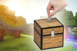 Salvadanaio scrigno di Minecraft