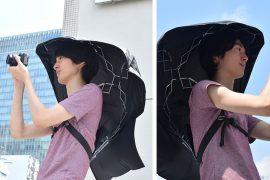 Ombrello senza mani