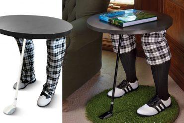 Tavolino con golfista