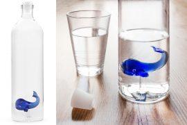 Bottiglia di vetro Balena