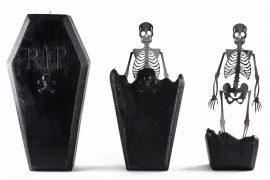 Candela bara con scheletro