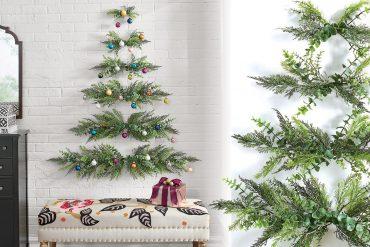 Albero di Natale minimale da parete