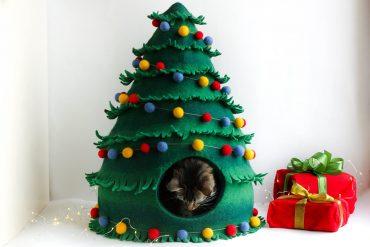Casa per gatti Albero di Natale