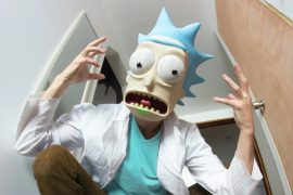 Maschera di Rick Sanchez da stampare