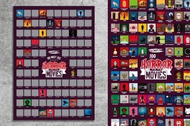 Poster 100 film horror da grattare