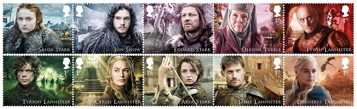 Francobolli Game of Thrones Royal Mail