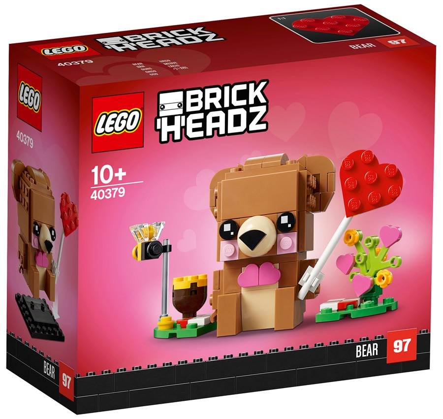 Orso di San Valentino LEGO BrickHeadz (scatola)
