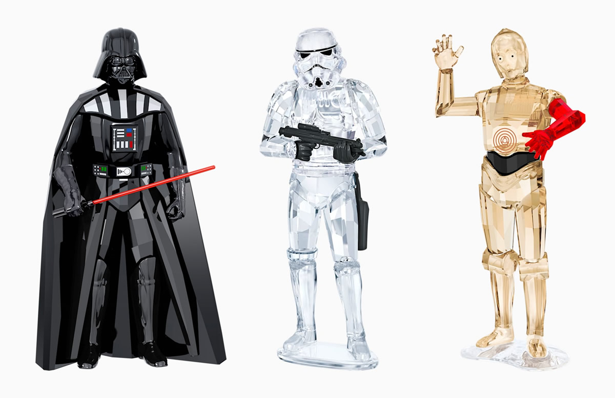 Swarovski Star Wars - Darth Vader, Stormtrooper e C-3PO