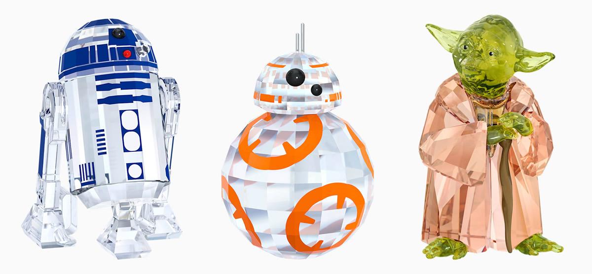 Swarovski Star Wars - R2-D2, BB-8 e Yoda