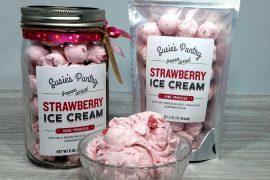 Palline di gelato secco