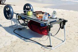 Carrello tavolino da spiaggia