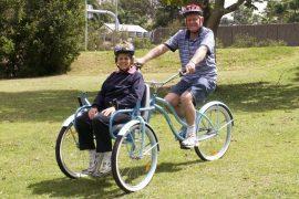 Bicicletta-sedia a rotelle