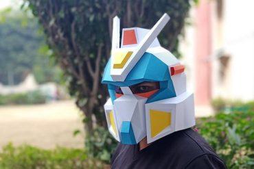 Maschera di carta di Gundam