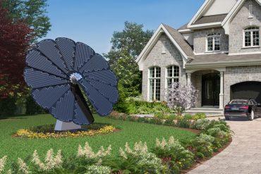 Fiore di pannelli solari
