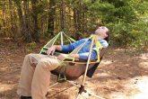 Sedia da campeggio dondolante